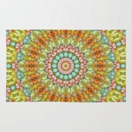 Pastel Jellybean Mandala Rug