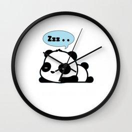 Funny Panda Bear Need More Sleep  Wall Clock
