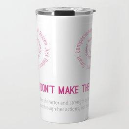 Breasts Don't Make a Woman Travel Mug