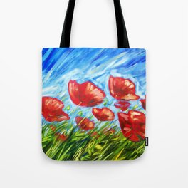 Wild Poppies by Ira Mitchell-Kirk Tote Bag