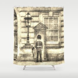 Buckingham Palace Queens Guard Vintage Shower Curtain