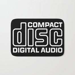 Compact Disk Digital Audio Logo - White Bath Mat