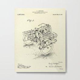 Side Car-1918 Metal Print