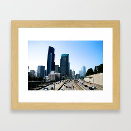 Taking Seattle Back Framed Art Print