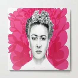 Rosa Frida Metal Print