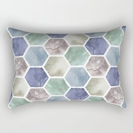 Cold Hexagones Rectangular Pillow