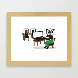 Panda Teacher Framed Art Print
