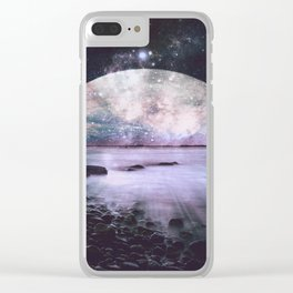 Mystic Lake Periwinkle Teal Clear iPhone Case
