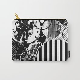 Black And White Choas - Mutli Patterned Multi Textured Abstract Carry-All Pouch
