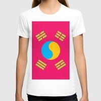 korea T-shirts featuring Neon Nation SOUTH KOREA by T.K.O.