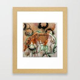 Bear Skeleton Framed Art Print