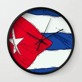 Cuba Fancy Flag Wall Clock