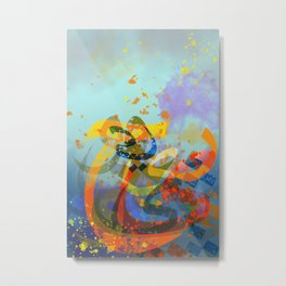 Huroof Arabic Alphabet Letters Abstract Style Metal Print
