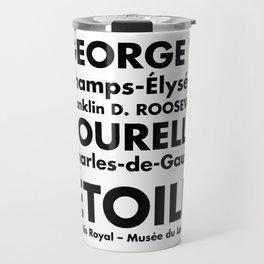 Paris Subway Sign, Métro de Paris Line 1 Travel Mug