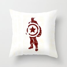 Superheroes minimalist - Simply red Throw Pillow