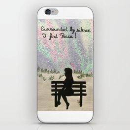 Silence is peace iPhone Skin