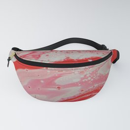 Fluid Nature - Radiating Red - Abstract Acrylic Pour Art Fanny Pack