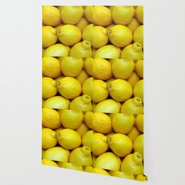 Yellow lemons Wallpaper