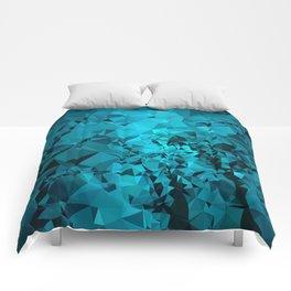 Teal Geometric Pattern Comforters