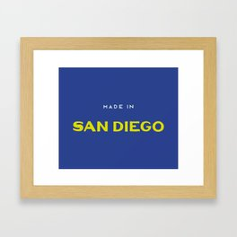 Made in San Diego Framed Art Print