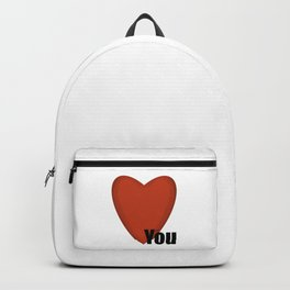 Red and Black Heart You Valentines Day love you  Backpack