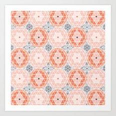 Geodome - Pink Art Print