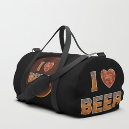 I Love Beer Keg Duffle Bag