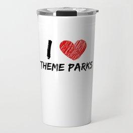 I Love Theme Parks Travel Mug