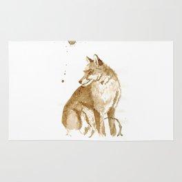 Coffee Fox Rug