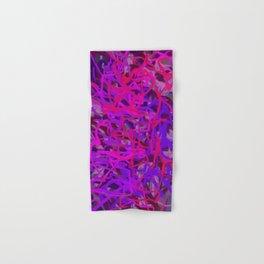Pink & Purple Energy Mass Abstract Hand & Bath Towel