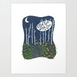 Sleep Tight, Little One Art Print