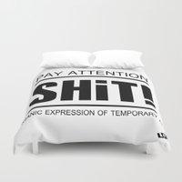 shit Duvet Covers featuring Shit ! by LGT logout graphix design