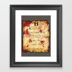 Red Wedding Framed Art Print