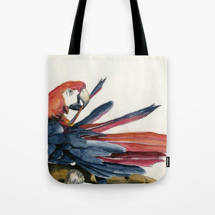Parrot Grooming Tote Bag By Corduroyheart