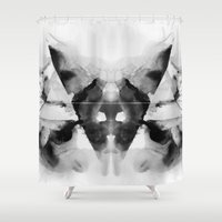 dark side Shower Curtains featuring Dark Side by Alexis Marcou