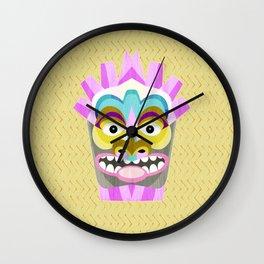 Aloha Tiki Mask Wall Clock