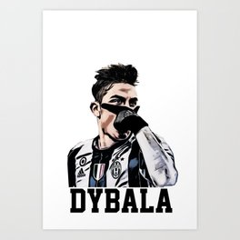 Dybala Mask Celebration Art Print