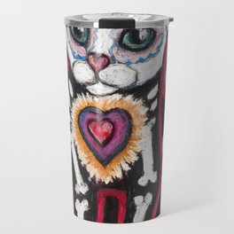 Day of the Dead Cat Travel Mug