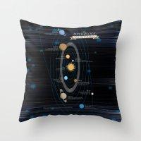 mythology Throw Pillows featuring Mythology of Astronomy by Pygmy Creative