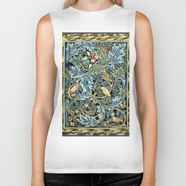 "William Morris ""Birds and Acanthus"" Biker Tank"
