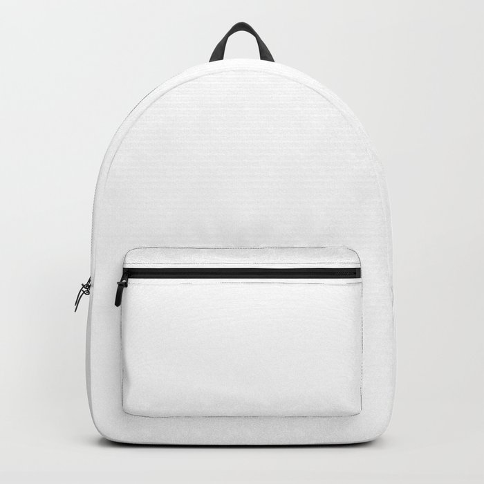 Plain White Simple Solid Color All Over Print Backpack by podartist ... b186cc8c0c1ae