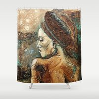 africa Shower Curtains featuring Africa by Cristina Pagani Arte