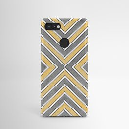 Stripes in Grey and Yellow-bold Android Case