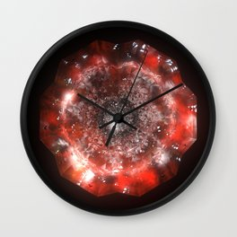 The Eye of Cyma: Fire and Ice - Frame 50 Wall Clock
