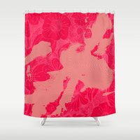 kitty Shower Curtains featuring Kitty by Anchobee