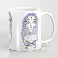 magical girl Mugs featuring MAGICAL GIRL #1 by Ronia Garrett-Benson