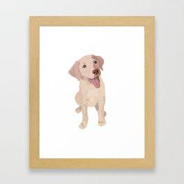 Golden (Lab) Girl Framed Art Print