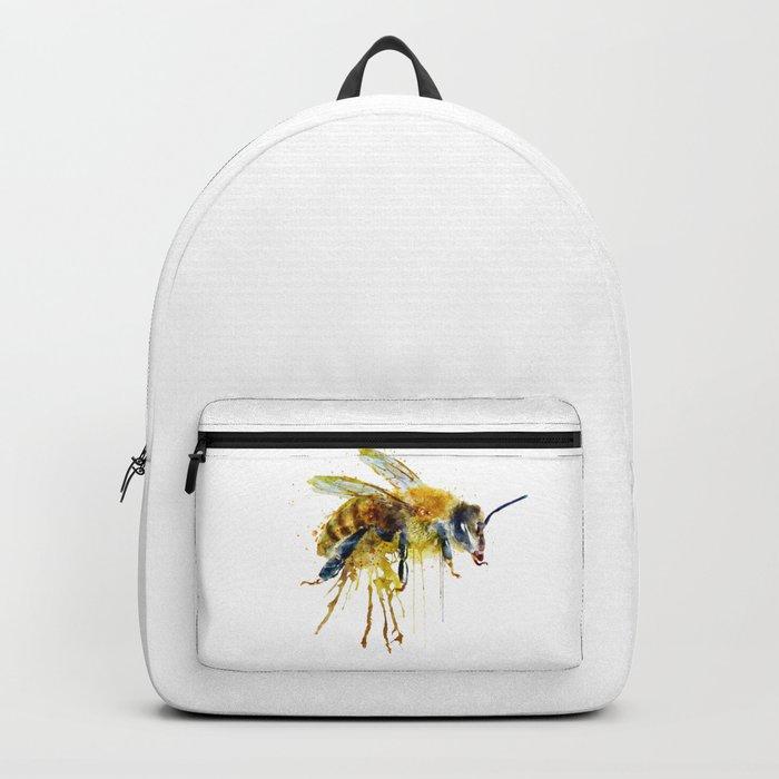 Watercolor Bee Backpack