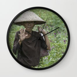 indo style Wall Clock
