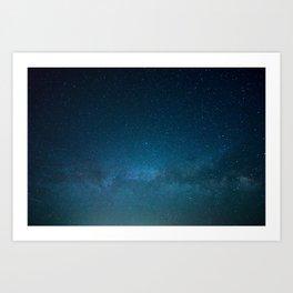 Navy Blue Star Galaxy Art Print
